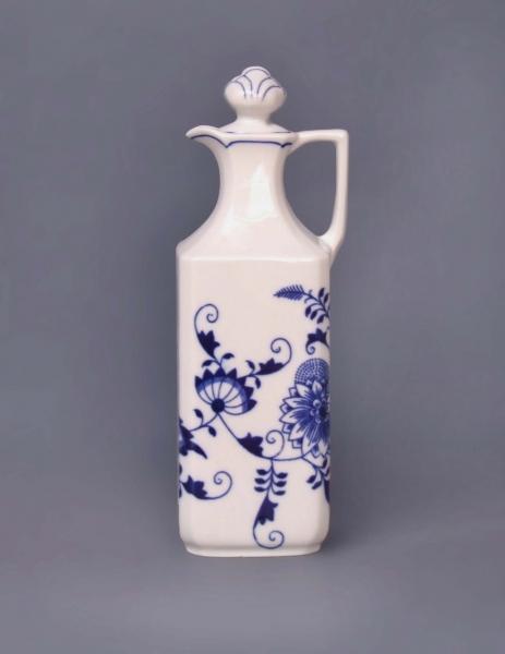 Zwiebelmuster Square Carafe, Original Bohemia Porcelain from Dubi