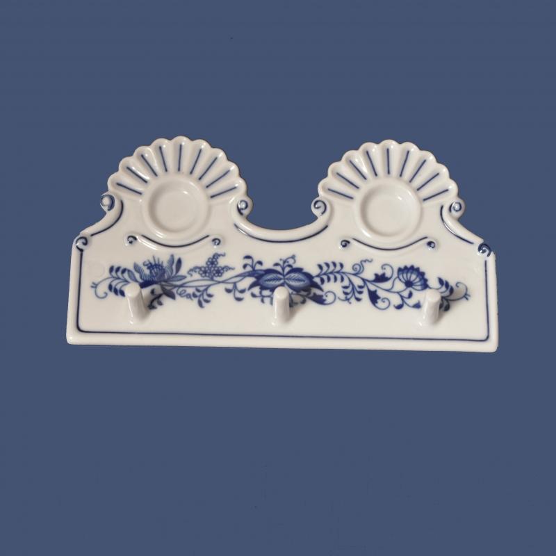 Zwiebelmuster Kitchen hanger 18cm, Original Bohemia Porcelain from Dubi