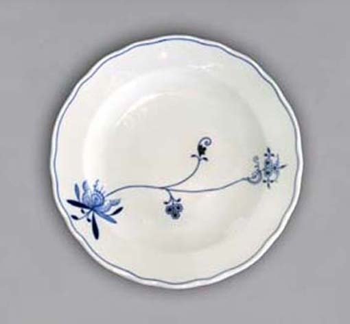 Eco Zwiebelmuster Flat Plate 24cm, Bohemia Porcelain from Dubi