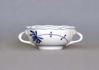 Eco Zwiebelmuster Creamsoup Cup with 2 Handles, Bohemia Porcelain from Dubi
