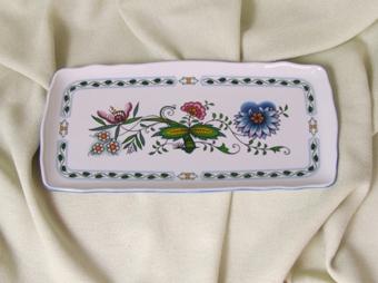 NatureZwiebelmuster Square Sandwich Tray,NATURE Bohemia Porcelain from Dubi