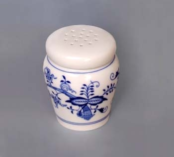 Zwiebelmuster Sugar Container 0.20L, Original Bohemia Porcelain from Dubi