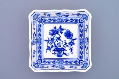 Zwiebelmuster Salatschüssel 4-eckig 15cm Original Bohemia Porzellan aus Dubi