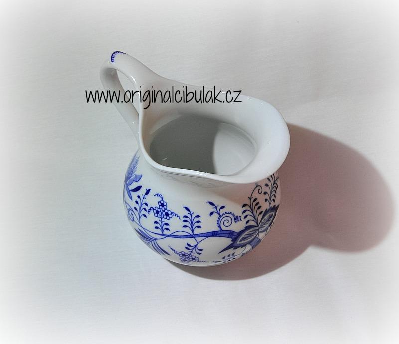 Zwiebelmuster Krug bauchig 1,10L Original Bohemia Porzellan aus Dubi