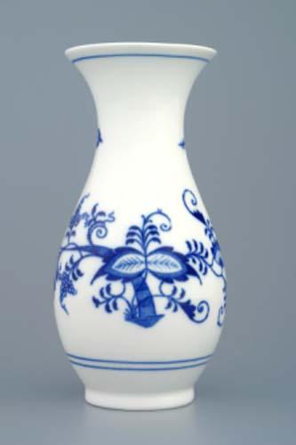 Zwiebelmuster Vase 1210/1 16,5cm Original Bohemia Porzellan aus Dubi