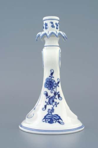Zwiebelmuster Kerzenleuchter 1983 22cm Original Bihemia Porzellan aus Dubi