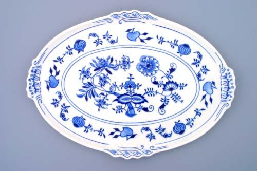 Zwiebelmuster Oval Platte 39cm Original Bohemia Porzellan aus Dubi