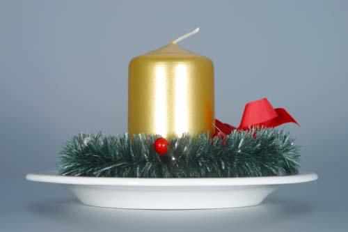 Zwiebelmuster Weihnachtsleuchter - persönlich 13cm Original Bohemia Porzellan aus Dubi