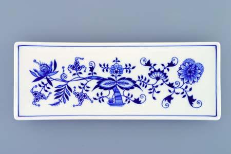 Zwiebelmuster Fischschale 27,4cm Original Bohemia Porzellan aus Dubi