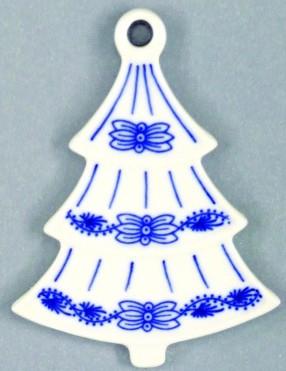 Zwiebelmuster Weihnachtsbaum durchbrochen 8,5cm Original Bohemia Porzellan aus Dubi