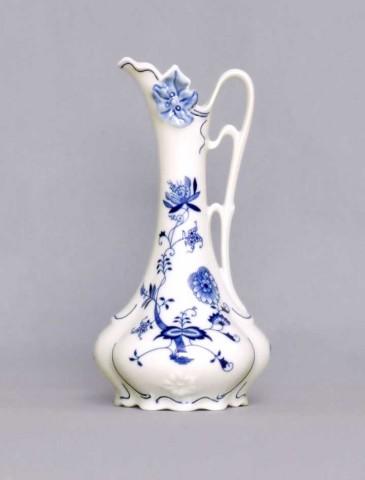 Zwiebelmuster Vase Jugendstilkrug 11214 21cm Original Bohemia Porzellan aus Dubi