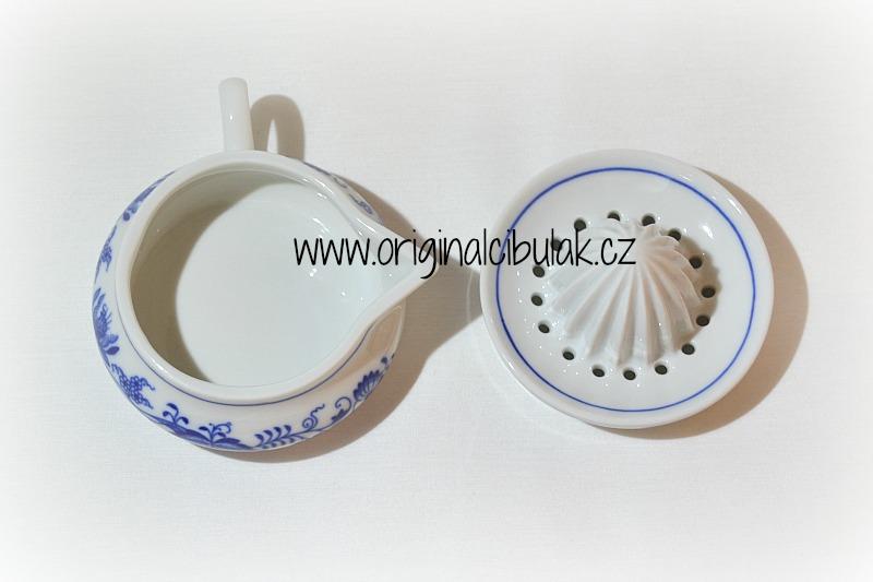 Zwiebelmuster Zitronenpresser 10cm Original Bohemia Porzellan aus Dubi