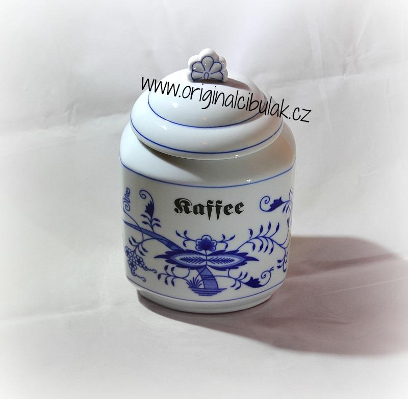 Zwiebelmuster Vorratsdose mit Name nach Spezifikation 1,10L (Zucker, Salt, Reis, Mehl, Brosel, ohne Anschrift) Original Bohemia Porzellan aus Dubí