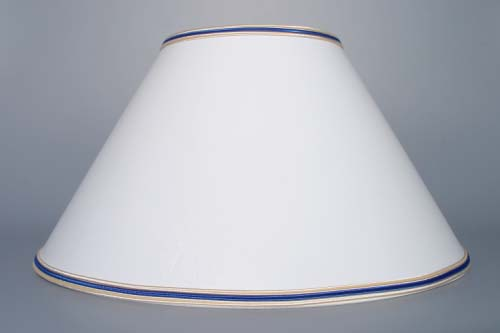 Zwiebelmuster Nachtlampe mit Vitrageschirm 40cm Original Bohemia Porzellan aus Dubi