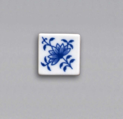 Zwiebelmuster Magnet Zwiebelmuster eckig 3cm Original Bohemia Porzellan aus Dubi