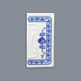 Zwiebelmuster Hausnummer Umrahmung relief Original Bohemia Porzellan aus Dubi