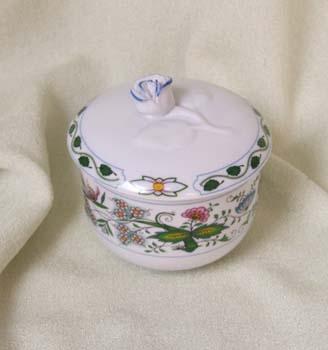 Zwiebelmuster Zuckerdose ohne Henkel mit Deckel 0,20L Nature Zwiebelmuster farbig Bohemia Porzellan aus Dubi