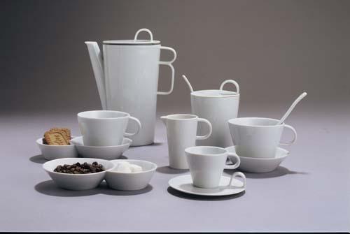 Kaffee service Bohemia White design prof. arch. Jiří Pelcl Bohemia Porzellan aus Dubi