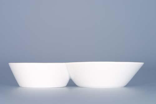 Doppeluntertasse Bohemia White - design prof. arch. Jiří Pelcl Bohemia Porzellan aus Dubi