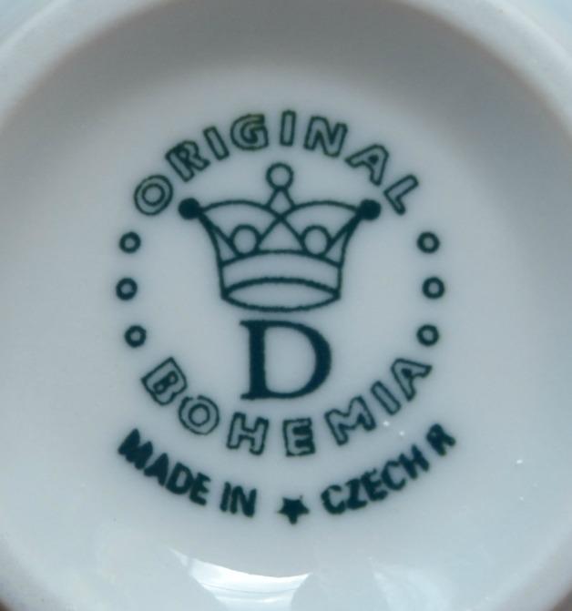 Zwiebelmuster Tasse mit Untertasse Gr. D 0,35L + 18,5cm Original Bohemia Porzellan aus Dubi