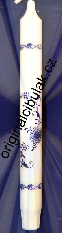 Zwiebelmuster Kerze Lang 4 Stk - Die Packungseinheit mit 4 Stk