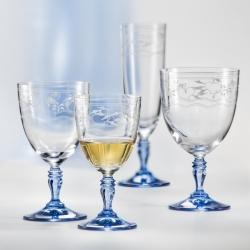 Kristall Gläser Zwiebelmuster Gravur Rotwein und Wasser 350 ml Bohemia Crystal