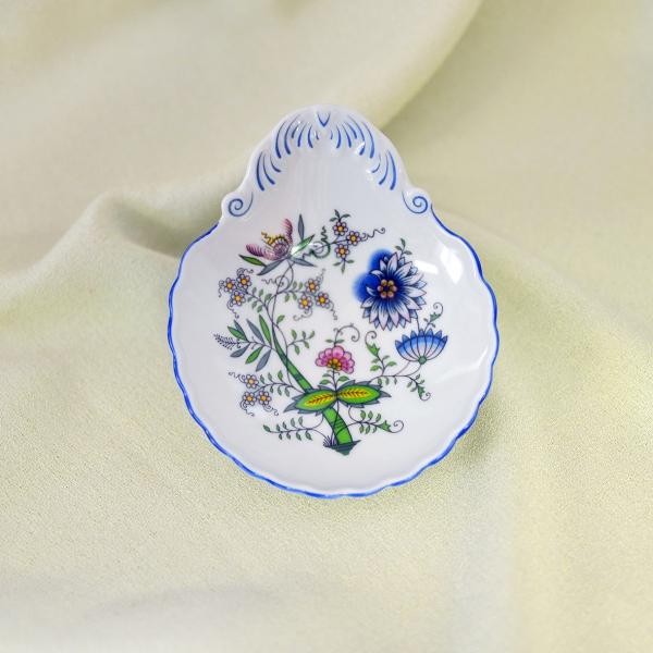 Zwiebelmuster Schüssel für Marmelade NATURE farbig Original Bohemia Porzellan aus Dubi