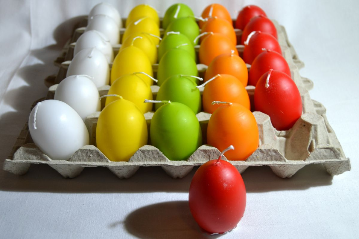 Kerze Ei Farbe 1 Stück