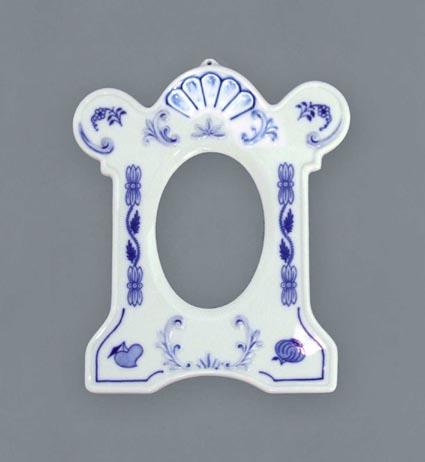 Zwiebelmuster Bilderramen Stehen 17cm Original Bohemia Porzellan aus Dubi