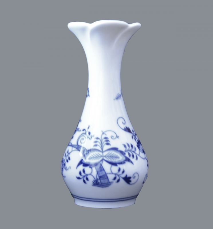 Zwiebelmuster Vase Blume 16,5cm Original Bohemia Porzellan aus Dubi
