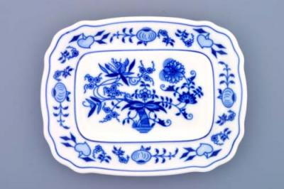Zwiebelmuster Butter Dish Bottom Part Small, Original Bohemia Porcelan from Dubi
