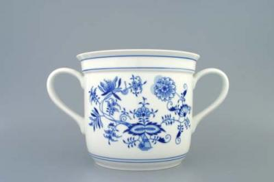 Zwiebelmuster Czech Mug with 2 Handles, Original Bohemia Porcelain from Dubi