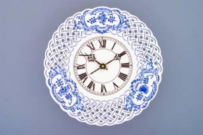 Zwiebelmuster Clock Perforated 27cm, Original Bohemia Porcelain from Dubi