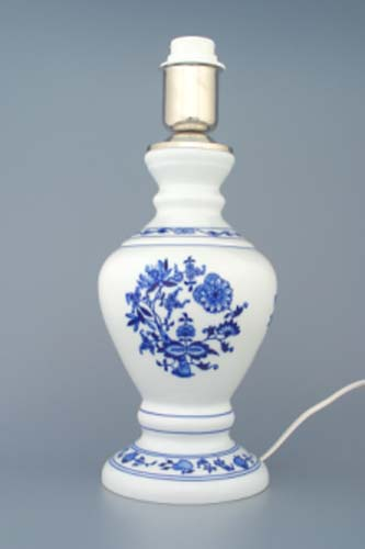 Zwiebelmuster Lamp Stand 1972 with Fitting, Original Bohemia Porcelain from Dubi