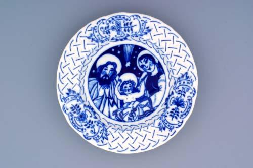 Zwiebelmuster Jahrestagteller relief 1996 Original Bohemia Porzellan aus Dubi