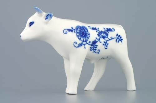 Zwiebelmuster Little Ox 13cm, Original Bohemia Porcelain from Dubi