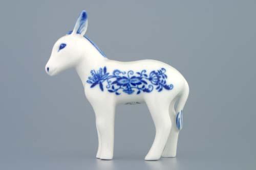 Zwiebelmuster Donkey 11cm, Original Bohemia Porcelain from Dubi