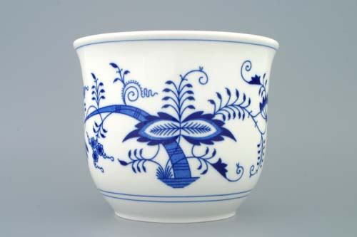 Zwiebelmuster Flower Pot Medium, Original Bohemia Porcelain from Dubi