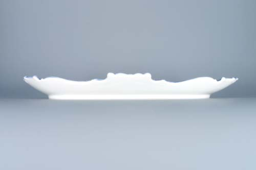 Zwiebelmuster Tray Embossed 35cm, Original Bohemia Porcelain from Dubi