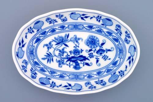 Zwiebelmuster Salad Dish 23cm, Original Bohemia Porcelain from Dubi
