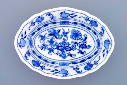 Zwiebelmuster Raviere Deep 18cm, Original Bohemia Porcelain from Dubi