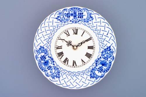 Zwiebelmuster Clock Embossed 18cm, Original Bohemia Porcelain Dubi