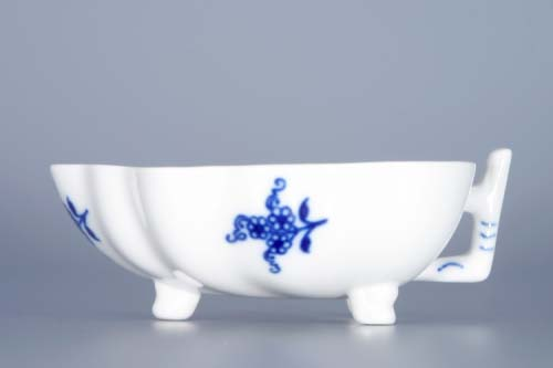 Zwiebelmuster Sugar Dish Footed 10.8cm, Original Bohemia Porcelain from Dubi