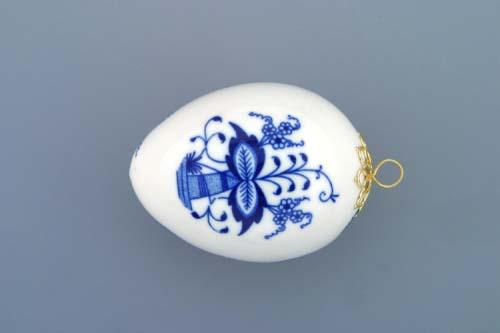 Zwiebelmuster Eastern Egg 7.5cm, Original Bohemia Porcelain from Dubi