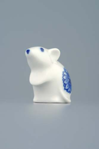 Zwiebelmuster Mouse 5cm, Original Bohemia Porcelain from Dubi