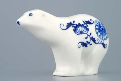 Zwiebelmuster Bear 15cm, Original Bohemia Porcelain from Dubi