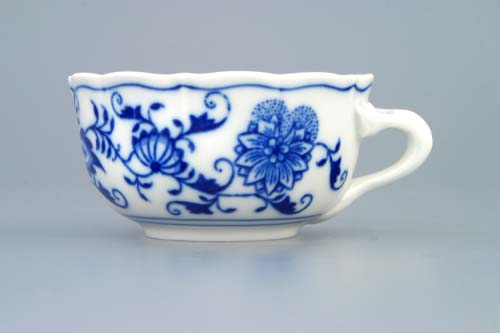 Zwiebelmuster Cup Low C/2 0.11L, Original Bohemia Porcelain from Dubi
