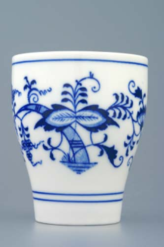 Zwiebelmuster Cup without Handle 0.25L, Original Bohemia Porcelain from Dubi
