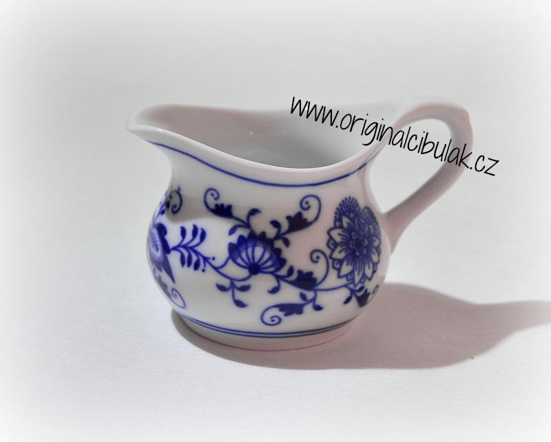 Zwiebelmuster Lemom Squash Jug 0.10L, Original Bohemia Porcelain from Dubi