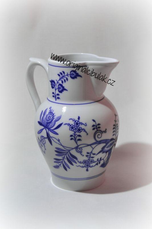 Zwiebelmuster Tall Jug 1.50L, Original Bohemia Porcelain from Dubi